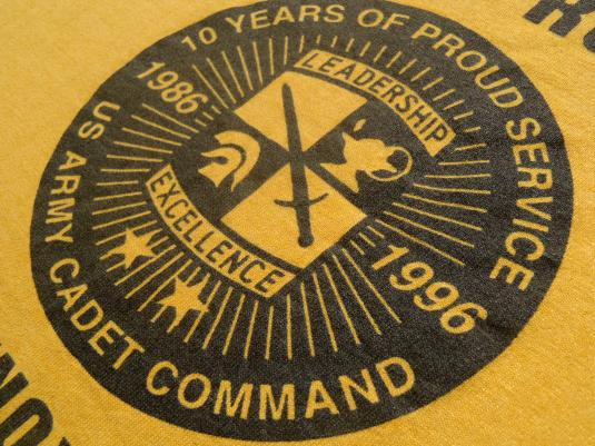 Vintage 1990s Camp Challenge Fort Knox ROTC Gold T-Shirt L