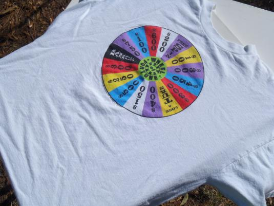 Vintage 1997 Wheel of Fortune Game Show White T Shirt XL