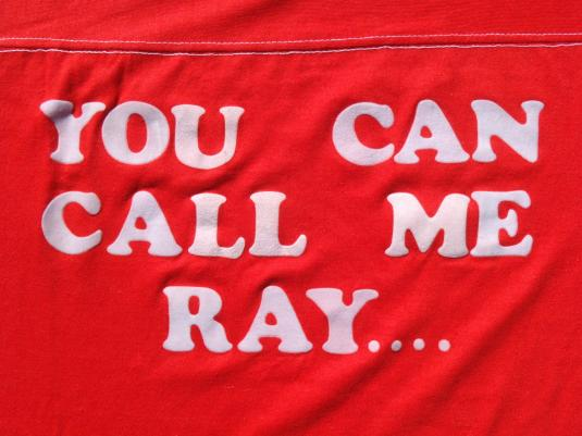 Vintage 1980s You Can Call Me Ray Lettered Red T-Shirt L