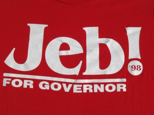Vintage 1998 Jeb Bush for Governor T Shirt M