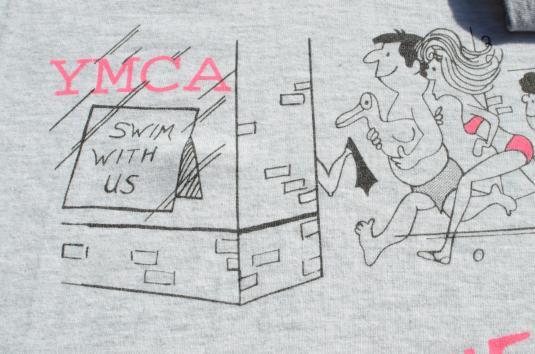 Vintage 1990s DBY YMCA Swim Team Heather Gray T Shirt M