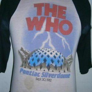 Vintage The Who the Clash 1982-pontiac silverdome