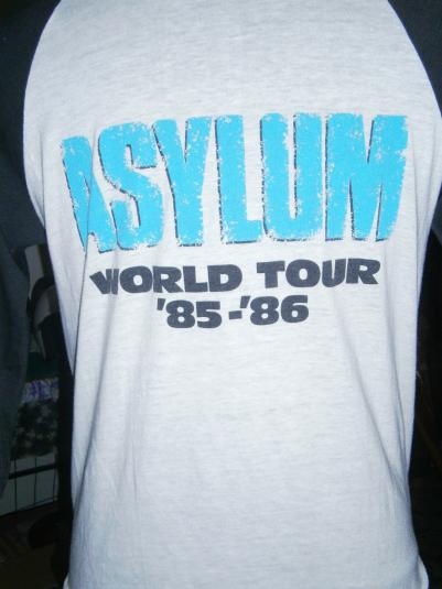 Vintage 3 quater Asylum World Tour 1985-86