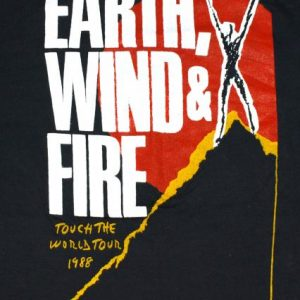 Vintage 1980s EARTH WIND & FIRE Concert Tour 1988 T-Shirt DS
