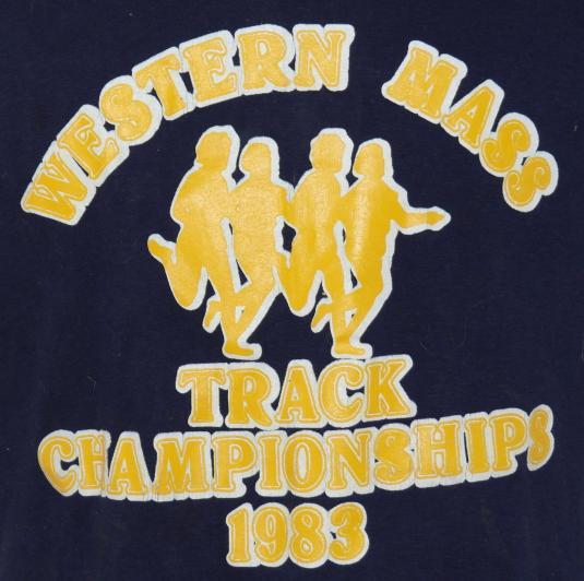 Vintage 1983 Western Mass Track Champions 1980s T-Shirt