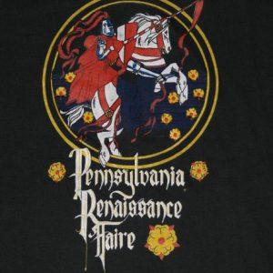 Vintage 1980s Pennsylvania Renaissance Knight T-Shirt