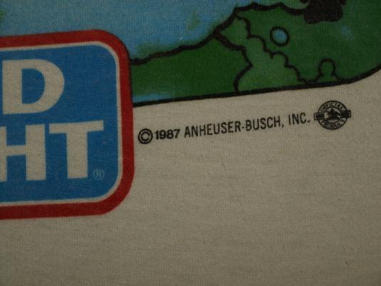 Vintage 1980s SPUDS MCKENZIE Bud Light Surfing T-Shirt