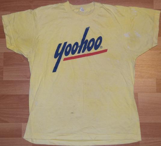 Vintage 1980's Yoo-hoo Logo Soft Thin Screen Stars T-Shirt