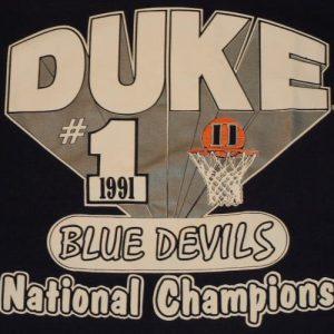 Vintage 1991 DUKE University Basketball NCAA Champions Shirt