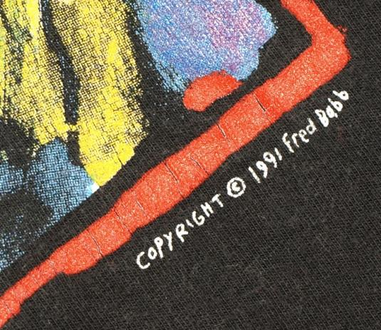 Vintage 1991 90s Art Cant Hurt You Abstract T-Shirt