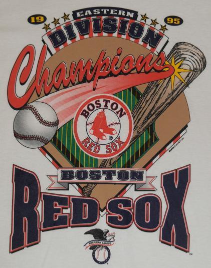 Vintage 1995 Boston Red Sox Champions T-shirt Baseball 1990s