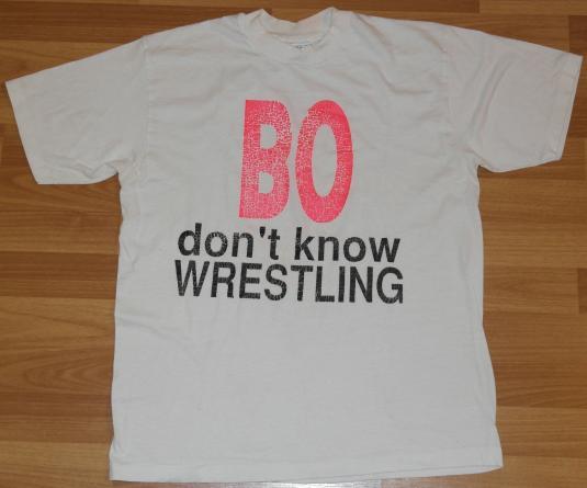 Vintage 1990s BO Knows WRESTLING Bo Jackson T-Shirt
