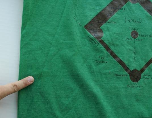 Vintage 1980s Baseball Field T Shirt
