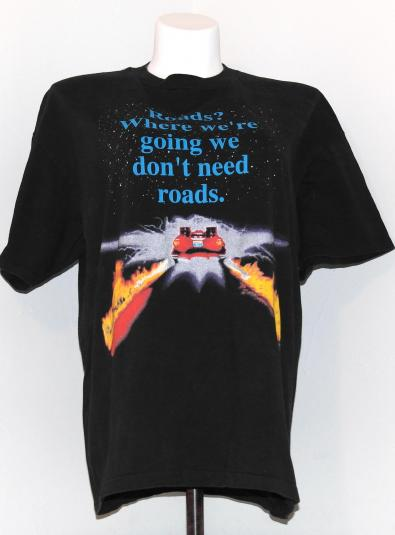 Vintage 1990s BACK TO THE FUTURE DeLorean T-Shirt