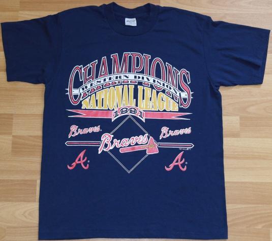 Vintage 1991 ATLANTA BRAVES Championship Baseball T-Shirt