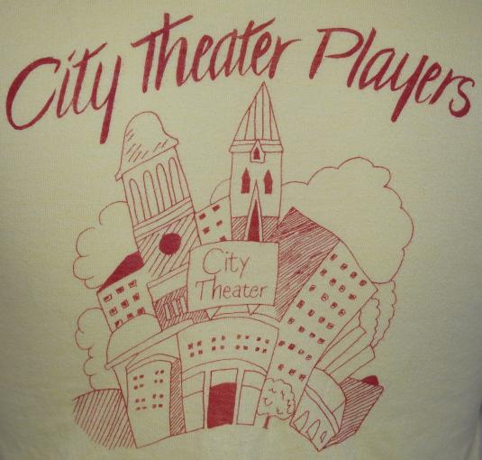 Vintage 1980s City Theater Players Yellow Soft Thin 80's