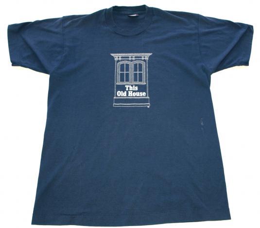Vintage 1980s Bob Vila This Old House PBS Blue T Shirt TV