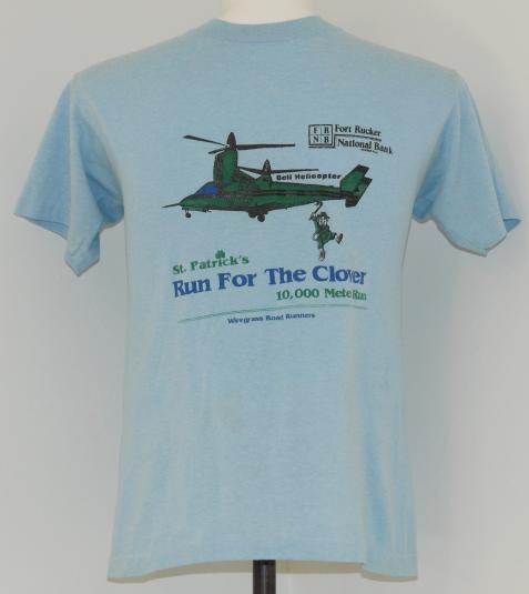 Vintage 1980's Bell Helicopter Leprechaun T-Shirt