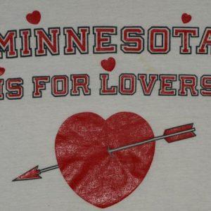 Vintage Minnesota Is For Lovers Heart Ringer T-Shirt