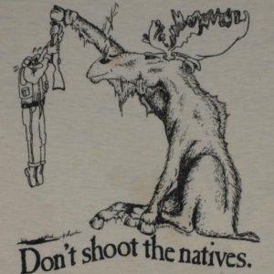 Vintage 1980s Maine Moose Hunting T-Shirt