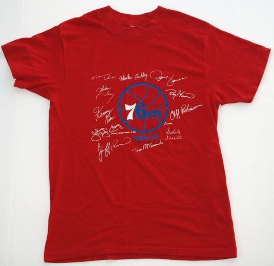 Vintage 1986-87 Philadelphia 76ers Signature Shirt