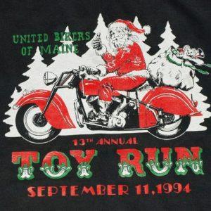 Vintage 1990s Santa Claus Biker T Shirt