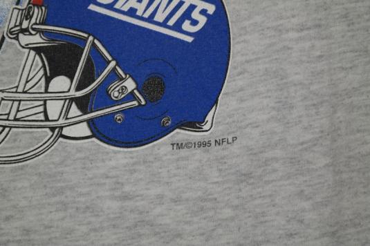 VTG 90s 1995 NEW YORK NY GIANTS 2-Sided NFL Football Tee