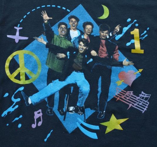Vintage 1989 NKOTB New Kids On Block Tour Concert Shirt