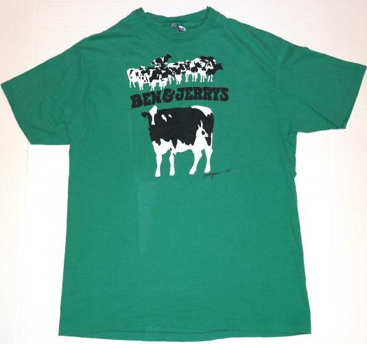 Vintage 1980's Ben & Jerry's Vermont Ice Cream Logo T-Shirt