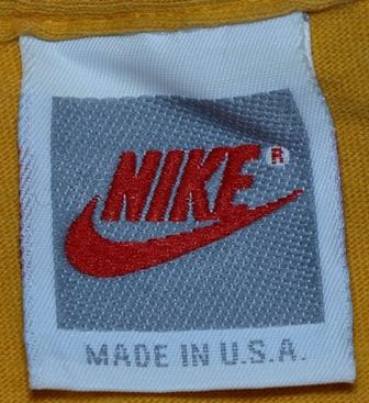 VTG 90s NIKE JUST DO IT Yellow Grey Tag Red Swoosh T-Shirt
