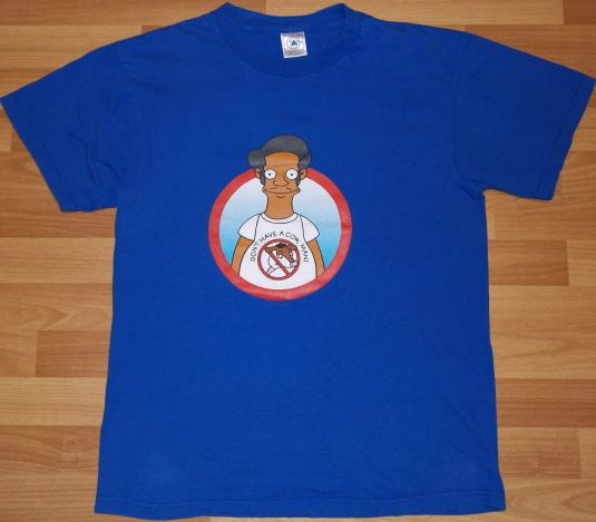Vintage 1990s THE SIMPSONS APU Don't Have A Cow T-Shirt