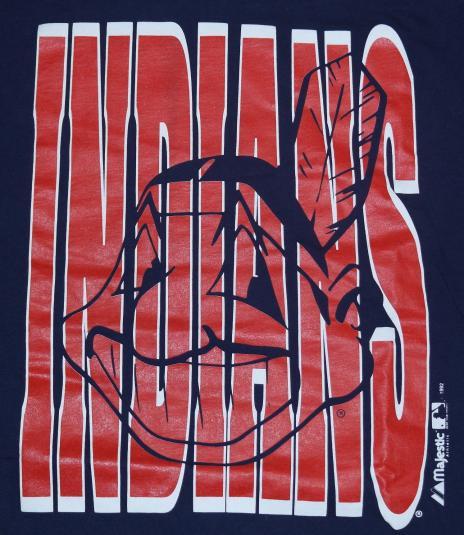 Vintage 1992 CLEVELAND INDIANS MLB Baseball T-Shirt 1990s
