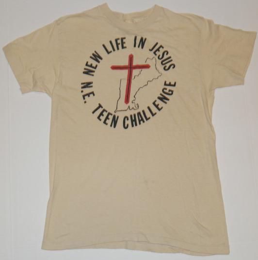 VTG 1980s Jesus New England Teen Religious Christian T-Shirt