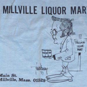 1970s Millville Massachusetts Liquor Store Comic T-Shirt