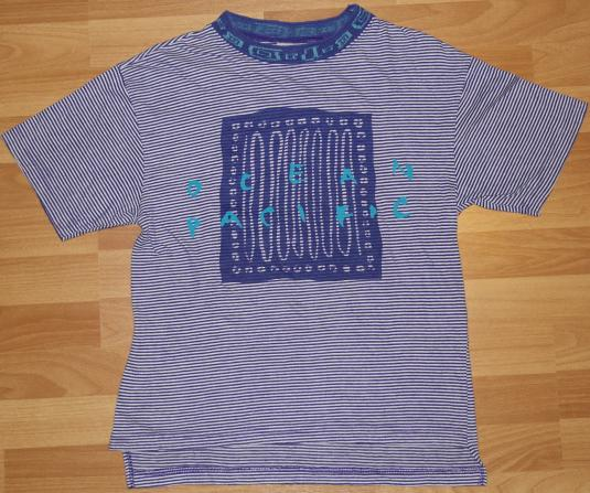 Vintage 1980s Ocean Pacific OP Striped Surfing T-Shirt