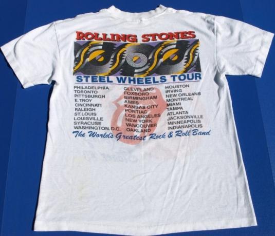 Vtg 1989 ROLLING STONES Steel Wheels Concert Tour shirt
