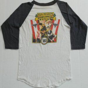 Vintage 1981 VAN HALEN World Tour T-Shirt 1980s