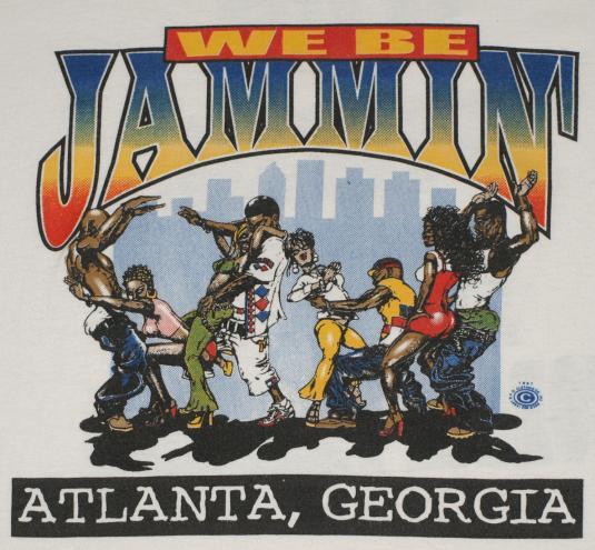 Vintage 90s Atlanta Georgia Hip Hop Dance Rap Jammin T-Shirt