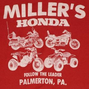 Vintage Millers Honda Motorcycle 50/50 Soft Thin T-shirt