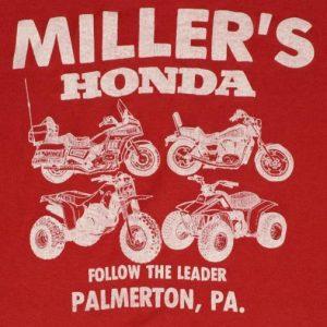 Vintage Millers Honda Motorcycle 50/50 Soft Thin T-shirt