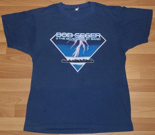 Vintage 1980's BOB SEGER Concert Tour Rock & Roll T-Shirt