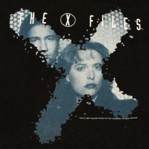 Vintage 1995 X-Files TV Show Logo T-Shirt