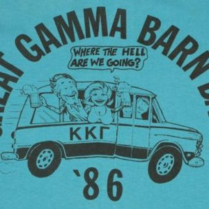 VIntage 1986 Kappa Kappa Gamma Frat Barn Bash Beer T-shirt