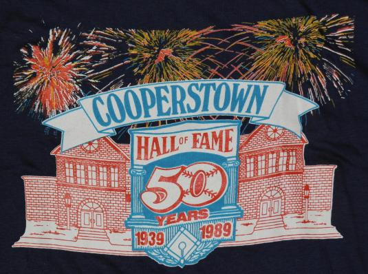 Vintage 1980s Baseball Hall of Fame Cooperstown New York T-s
