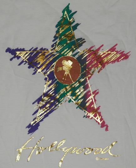 Vintage 1980s HOLLYWOOD Film Shiny Sparkling T-Shirt
