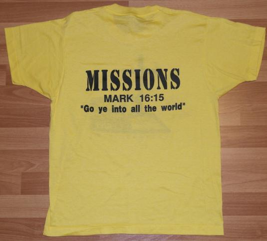 Vintage 1980s Faith Christian Center Cross Jesus T-Shirt