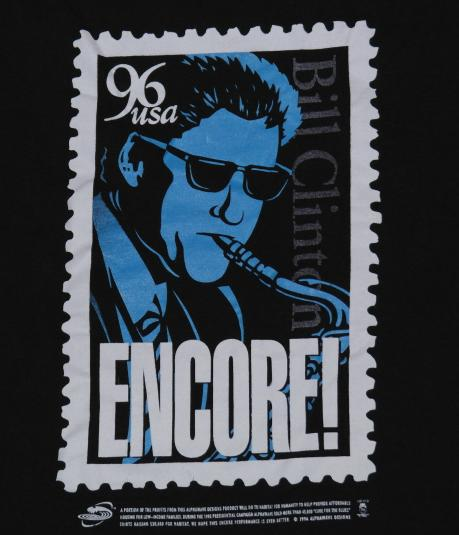 Vintage President Bill Clinton 1996 Saxophone Postage Stamp