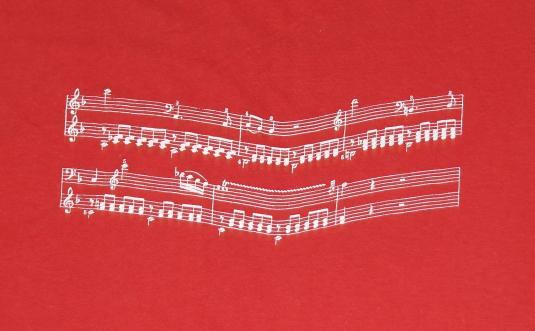 Vintage 1970s Mostly Mozart Music Festival T-Shirt Staff