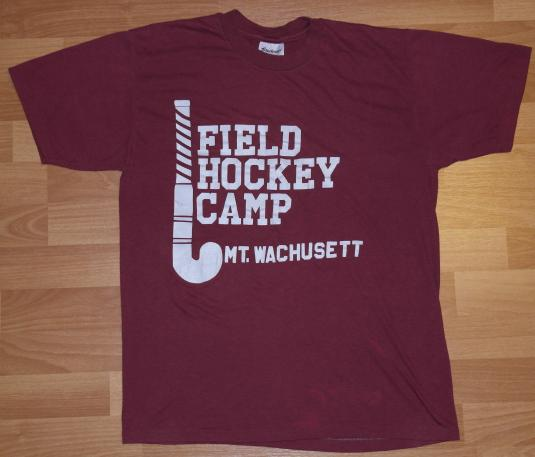 Vintage 1980's Mt Wachusett Field Hockey Camp T-Shirt