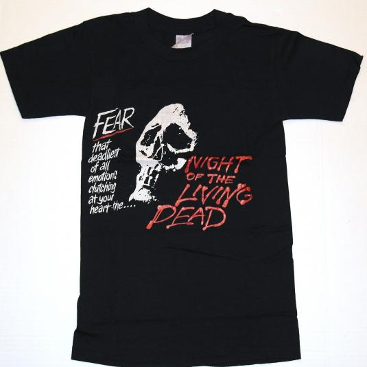 Vintage 1980's Night Of The Living Dead Fear T-Shirt ZOMBIE